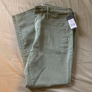 Green Mossimo High Rise Cropped Jeggings